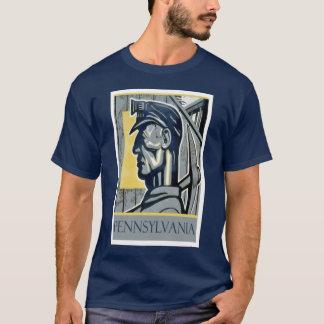 T-shirt vintage de mineur de WPA Pennsylvanie