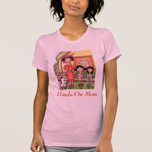 T-shirt vintage de portrait du jour de mère