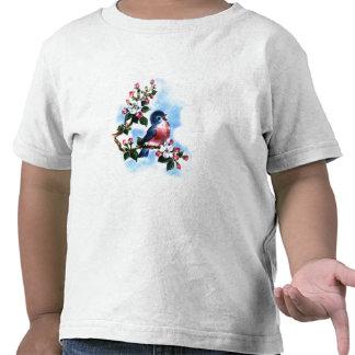 T-shirt vintage d'oiseau bleu