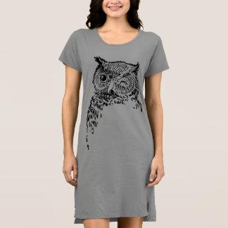 T-shirt vintage d'oiseaux de hibou