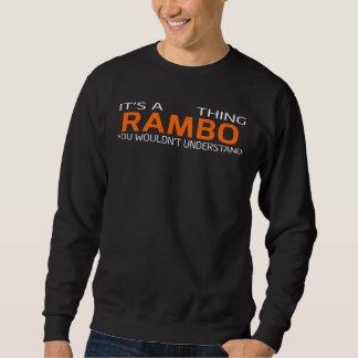 T-shirt vintage drôle de style pour RAMBO