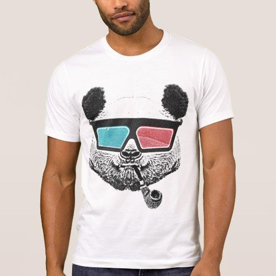 T-shirt Vintage panda 3-D glasses