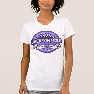 T-shirt Violette de logo de couleur de Jackson Hole