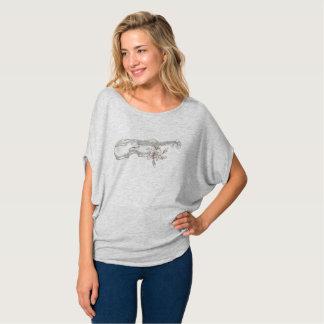 T-shirt Violon et dessus de dames Flowy de Lilly