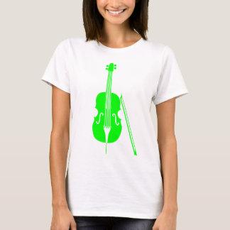 T-shirt Violoncelle - vert