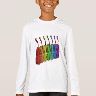 T-shirt Violoncelles dans une rangée