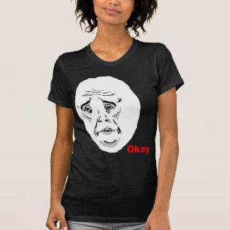 T-shirt Visage correct Meme de rage de type