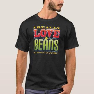 T-shirt Visage d'amour d'haricots