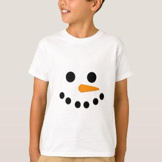 T-shirt Visage de bonhomme de neige