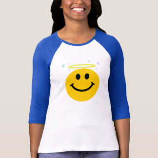 T-shirt Visage de smiley d'ange