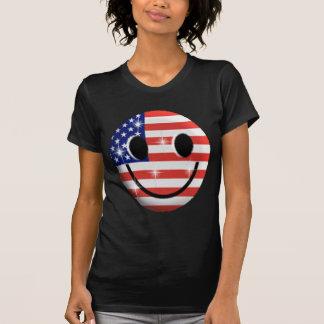 T-shirt visage de smiley de drapeau