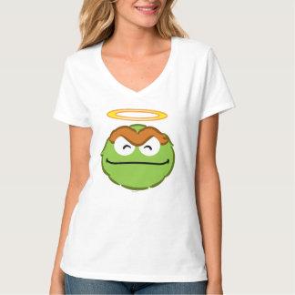 T-shirt Visage de sourire d'oscar avec le halo