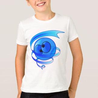 T-shirt Visage étourdi de smiley de bande dessinée de vent