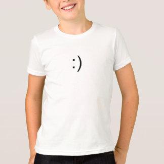 T-shirt Visage Geeky de sourire d'ordinateur
