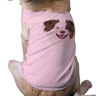 T-shirt Visage heureux border collie de chiens