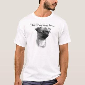 T-shirt Visage heureux de griffon de Bruxelles