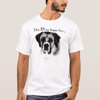 T-shirt Visage heureux de St Bernard
