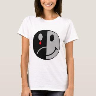 T-shirt Visage heureux et triste