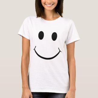 T-shirt Visage heureux souriant jaune des années 70
