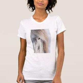 T-shirt Visage islandais blanc de cheval, Islande