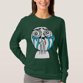 T-shirt Visage mignon Meme de rage de surcharge de