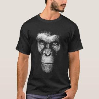 T-shirt Visage monochrome de singe