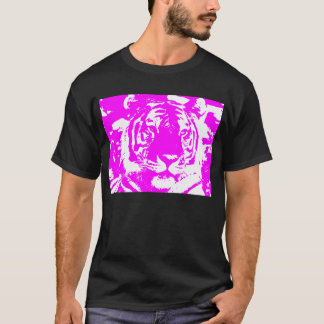 T-shirt VISAGE ROSE de TIGRE des années 80 de TIGRE de