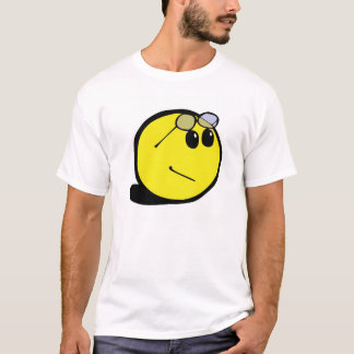 T-shirt visage souriant frais
