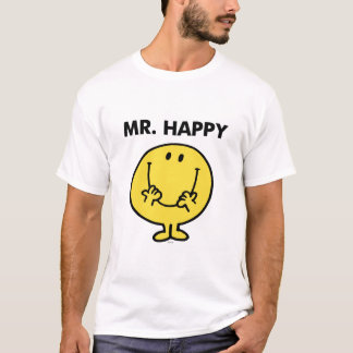 T-shirt Visage souriant géant de M. Happy |
