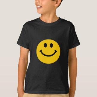 T-shirt Visage souriant jaune