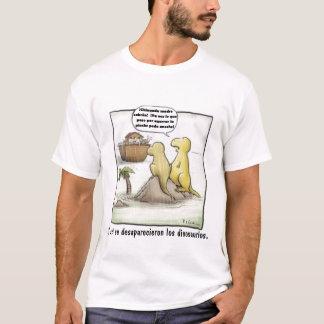 T-shirt Visibilité directe dinosaurios. de desaparecieron