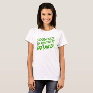 T-shirt Vissez ceci que je me déplace en Irlande