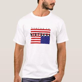 T-shirt vit - - détresse