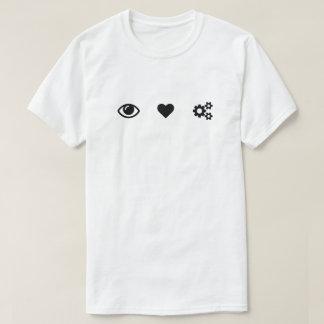 T-shirt Vitesses de coeur d'oeil