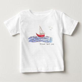 T-shirt vivant de bébé de mouettes de bateau de