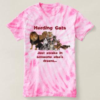 T-shirt Vivant en troupe des chats - gestion de