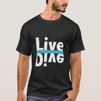 T-shirt vivant/par piqué reflété