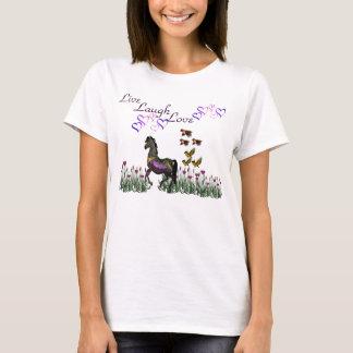 T-shirt Vivant, rire, chemises d'amour