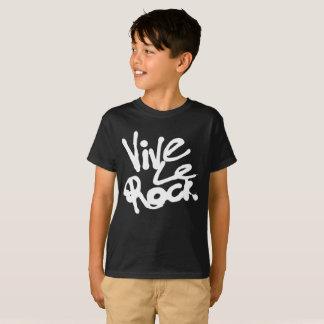 T-shirt VIVE LE ROCK - de cru slogan du punk rock 80s les