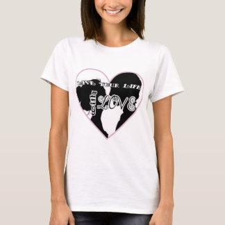 T-shirt Vivez avec le logo d'amour