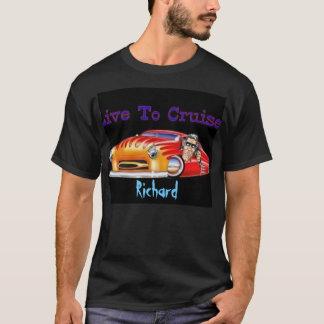 T-shirt Vivez pour croiser chemise chaude de roddin