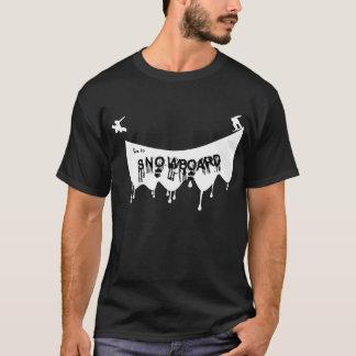 T-shirt Vivez pour faire du surf des neiges