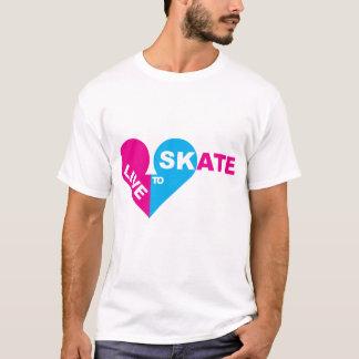 T-shirt vivez POUR PATINER