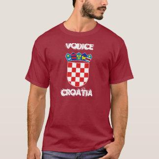 T-shirt Vodice, Croatie avec le manteau des bras