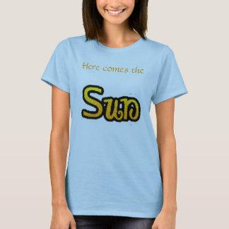 """T-shirt Voici venir la pièce en t """"bleu """" de Sun"""