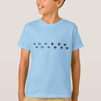 T-shirt Voies d'animal d'enfants
