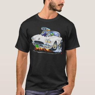 T-shirt Voiture 1958-60 de blanc de Corvette