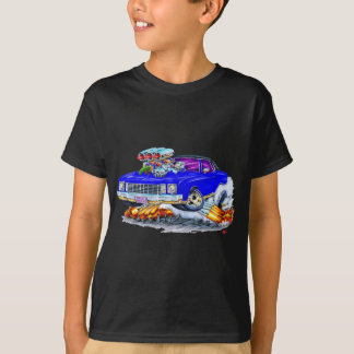 T-shirt Voiture 1972 de bleu de Monte Carlo