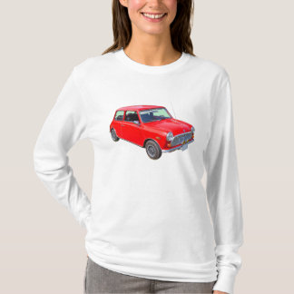 T-shirt Voiture ancienne rouge de Mini Cooper