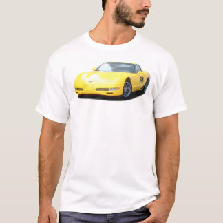 T-shirt Voiture de course jaune de Corvette Z06